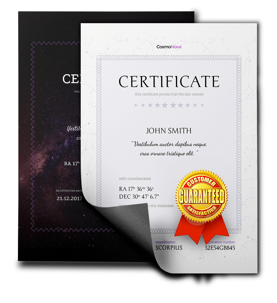 Delightful Star Certificate Template Intended For Name A Star Certificate Template