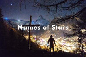 names-of-stars